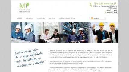 Página web de Marqués Prevenció