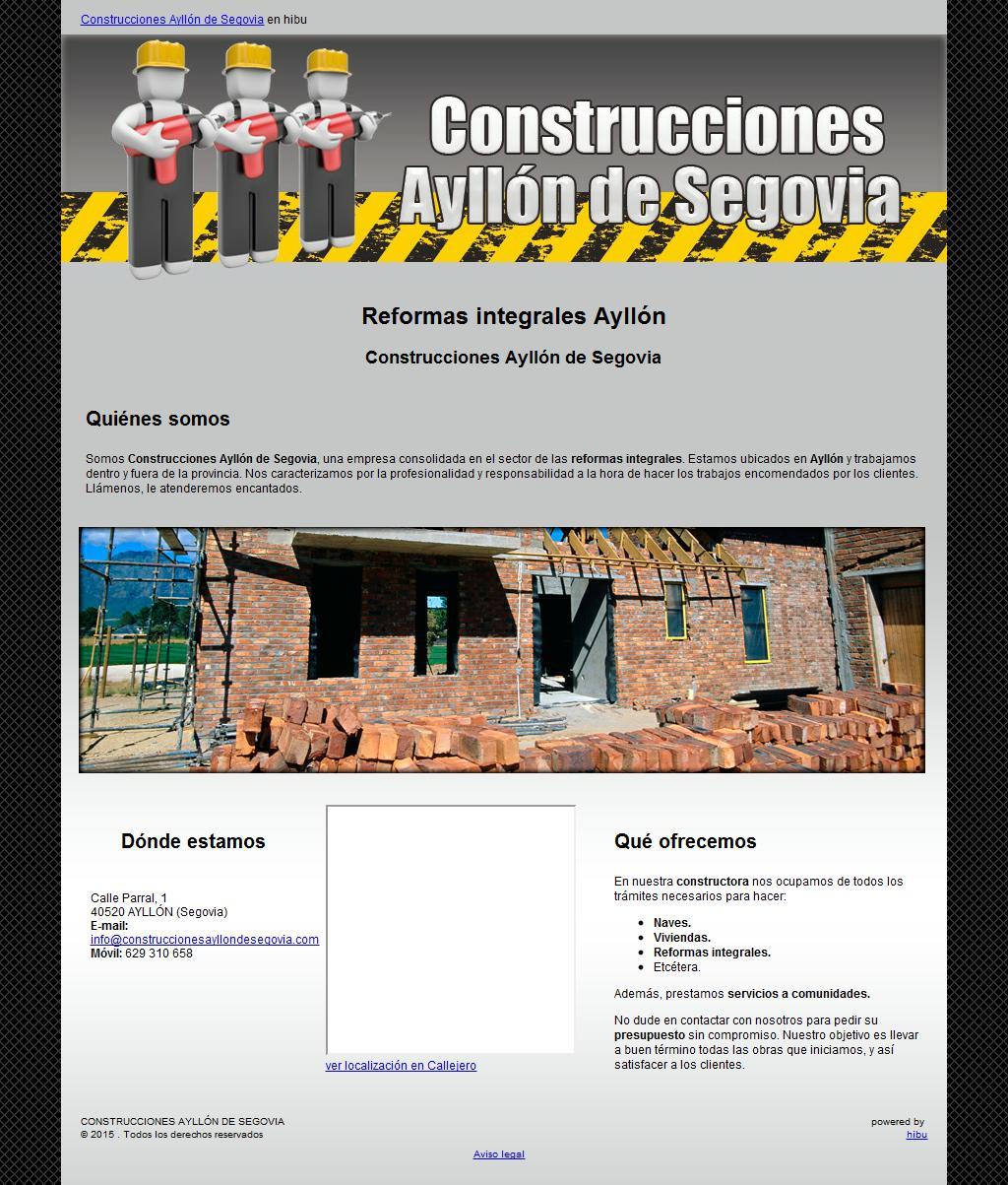 Construcciones Ayllon De Segovia