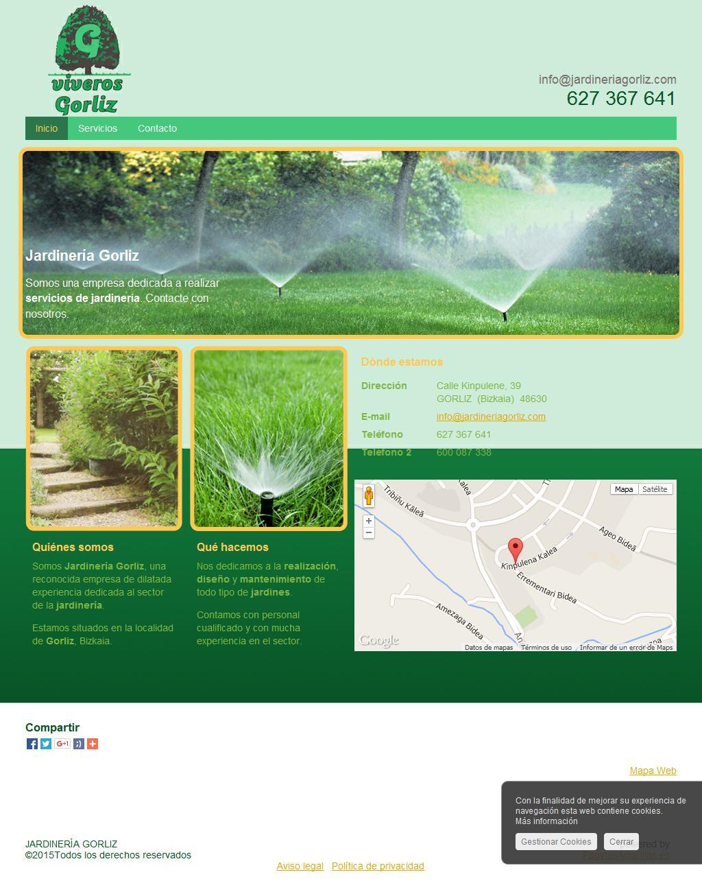 Jardineria gorliz dise o de p ginas web en madrid y - Trabajo jardineria madrid ...