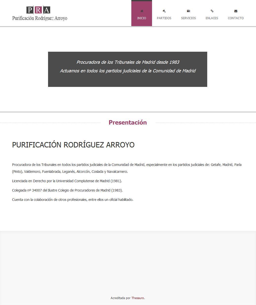 Procuradora Purificacion Rodriguez Arroyo