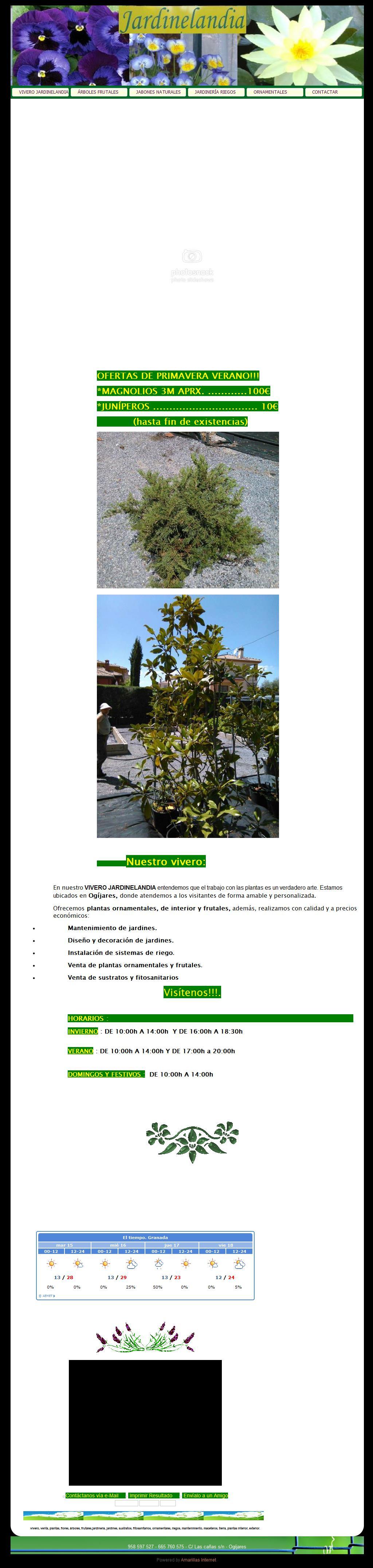 Vivero jardinelandia centro de jardineria dise o de - Centros de jardineria madrid ...